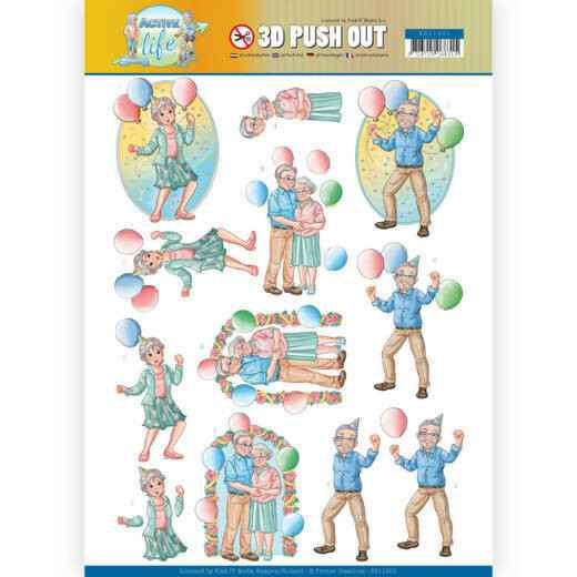 Yvonne Creations, 3D Push Out, Active Life, With the Grandchildren , Party Together - SB10401