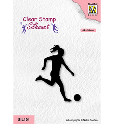 Nellie Snellen, Clear Stamp, Woman Soccer - SIL101