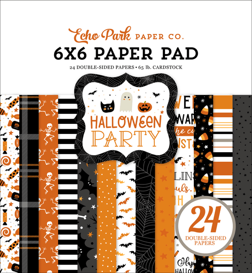 Echo Park, Paperpad, Halloween Party, 6x6 inch - HPA250023