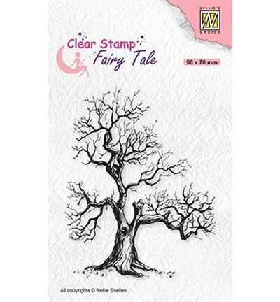 Nellie Snellen, Clear Stamp, Fairy Tale, Elves Tree - FTCS018