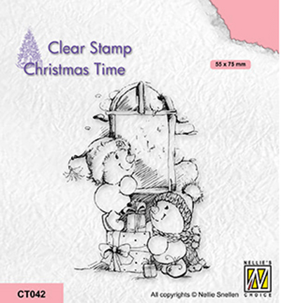 Nellie Snellen, Clear Stamp, Christmas Time, Present delivery - CT042