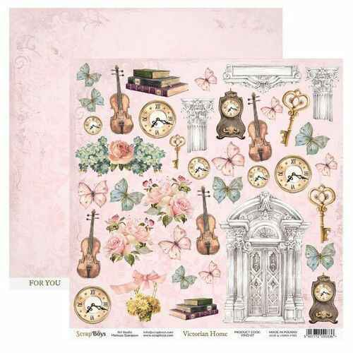 ScrapBoys, Scrapbookpapier, Victorian Home, Cut Out Elements - VIHO-07
