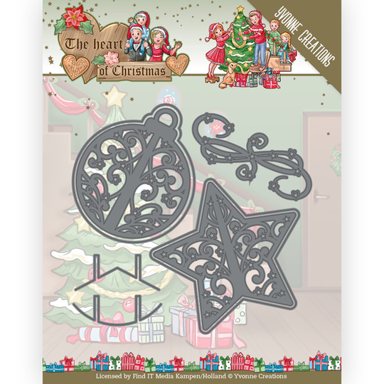 Yvonne Creations, Snijmal, The Heart of Christmas, Twinkling Decorations - YCD10254