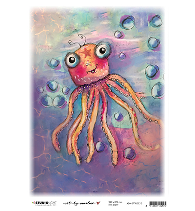 Studiolight, Art by Marlene, Rice Paper, So-Fish-Ticated, Whimsy Water Friend- ABM-SFT-RICE13