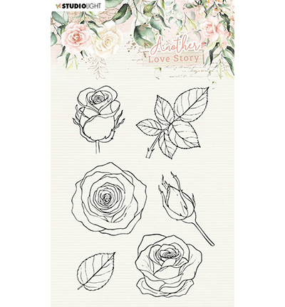 Studiolight, Clear Stamp, Another Love Story, Rose Flower - SL-ALS-STAMP01