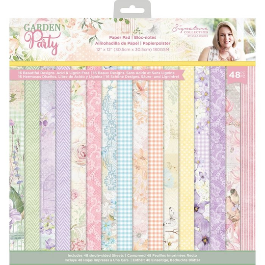 Crafter's Companion, Signature Collection, Garden Party , 12x12 inch - S-GP-PAD12