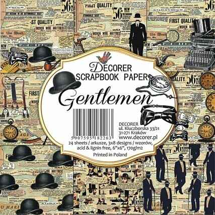 Decorer, Paperpad, Gentlemen, 6x6 inch - DECOR-C23-266