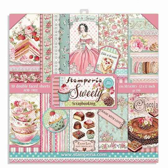 Stamperia, Paperpad, Sweety, 12x12 inch - SBBL78