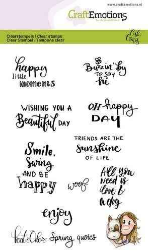 CraftEmotions, Clear Stamp, Kaat & Odey, Spring Quotes - 130501/1600