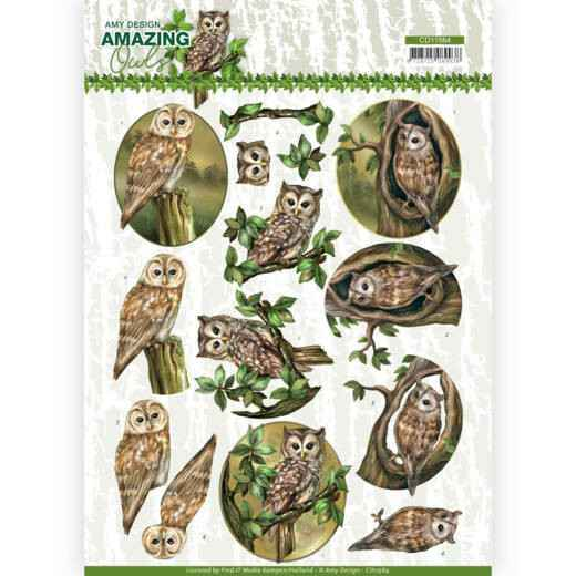 Amy Design, Knipvel, Amazing Owls, Forest Owls - CD11564