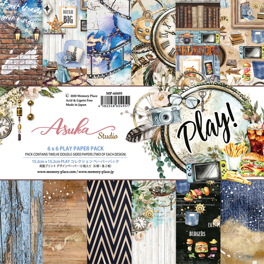 Memory Place, Paperpad, Play!, 6x6 inch - MP-60495