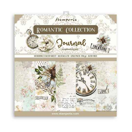 Stamperia, Paperpad, Romantic Journal , 12x12 inch - SBBL86