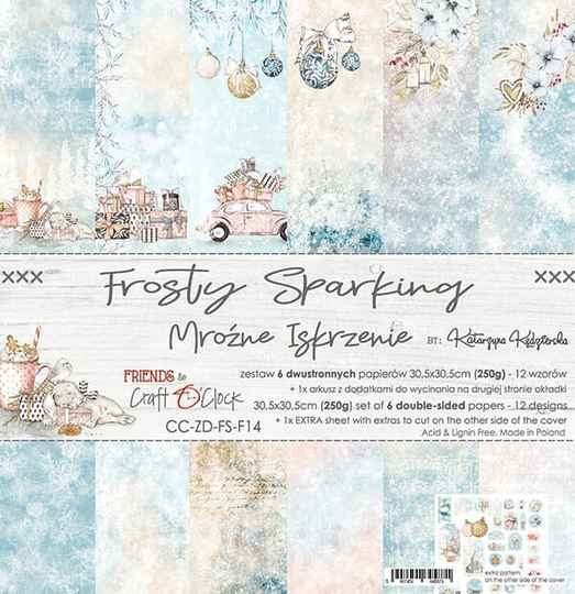 Craft O Clock, Paperpad, Frosty Sparking, 30,5 x 30,5 cm