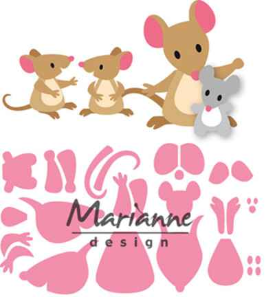 Marianne Design, Collectable , Eline's Muizenfamilie - COL1437
