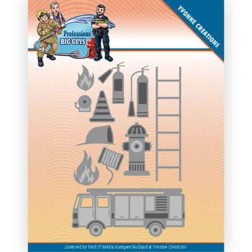 Yvonne Creations, Snijmal, Big Guys, Professions, Fire Department - YCD10239