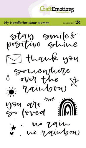 CraftEmotions, Clear Stamp, Carla Creaties, Handletter, Rainbow 1 - 130501/2209