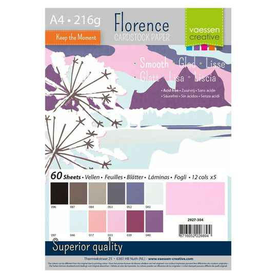 Florence, Cardstock Smooth, Winter , A4, 60 vel - 2927-304