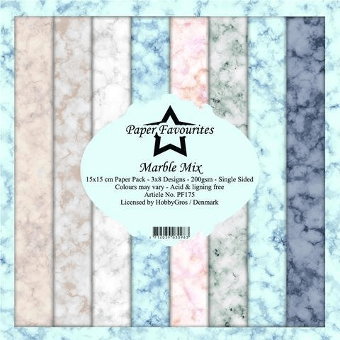 Paper Favourites, Paperpad, Marble Mix , 6x6 inch - PF175