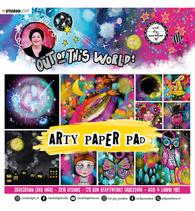 Studiolight, Art by Marlene, Paperpad, Out of this World - ABM-OOTW-PP16