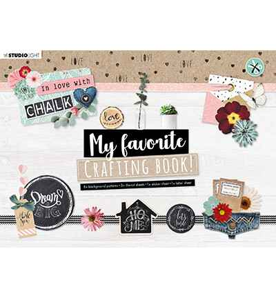 Studiolight, My Favourite Crafting Book, In Love With Chalk - STANSBLOKSL101