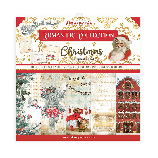 Stamperia, Paperpad, Romantic Christmas , 8x8 inch - SBBS44