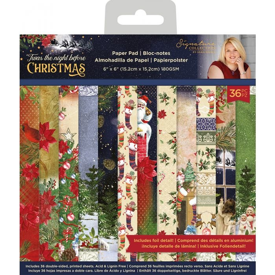 Crafter's Companion, Signature Collection, Twas the night before Christmas , 6x6 inch - S-TNBC-PAD6
