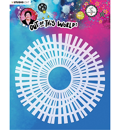 Studiolight, Art by Marlene, Mask Stencil, Out of this World, Quicky Wheel- ABM-OOTW-MASK46