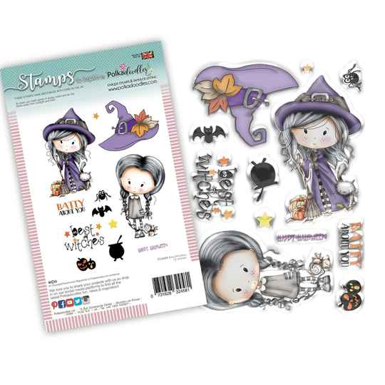PolkaDoodles, Clear Stamp, Best Witches - PD8088