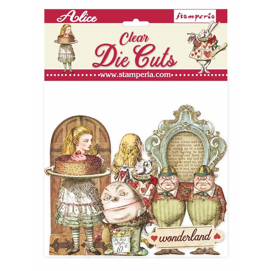 Stamperia, Clear Die Cuts, Alice Through the Looking Glass - DFLDCP11