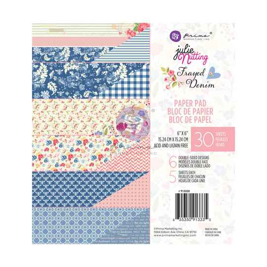 Prima Marketing, Paperpad, Frayed Denim , 6x6 inch - 913335