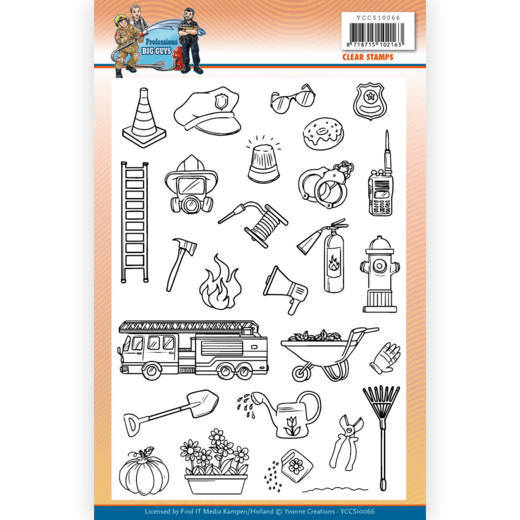 Yvonne Creations, Clear Stamp, Big Guys, Professions - YCCS10066