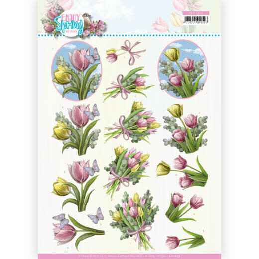 Amy Design, 3D Knipvel, Enjoy Spring, Bouquets of Tulips - CD11653