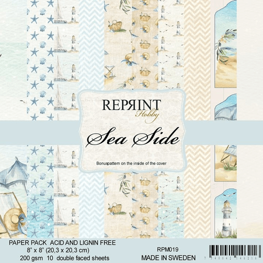 Reprint, Paperpad, Sea Side Collection , 8x8 inch - RPM019