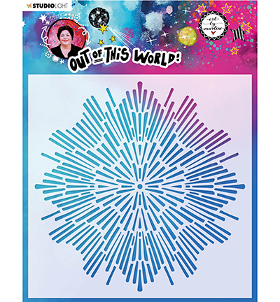 Studiolight, Art by Marlene, Mask Stencil, Out of this World, Galaxy - ABM-OOTW-MASK44