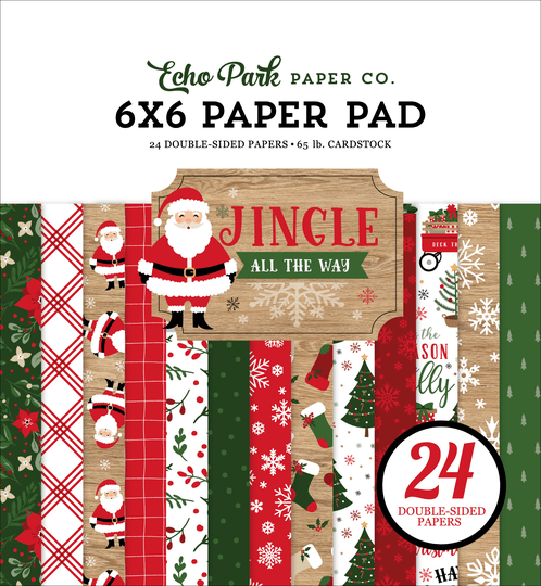 Echo Park, Paperpad, Jingle all the Way, 6x6 inch - JIN252023