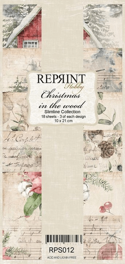Reprint, Paperpad, Christmas in the Wood, Slimline - RPS012