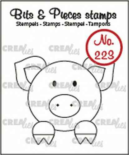 Crealies, Clear Stamp, Bits & Pieces. Feestvarken - CLBP223