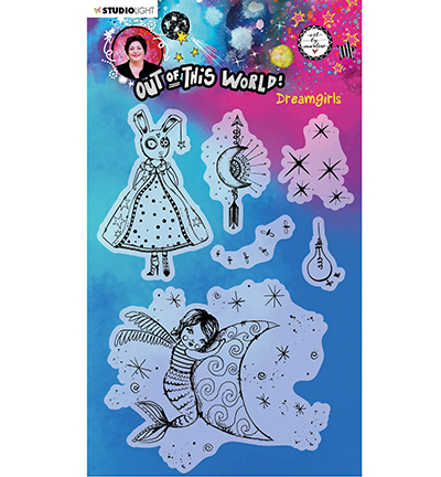 Studiolight, Art by Marlene, Clear Stamp, Out of this World, Dreamgirls - ABM-OOTW-STAMP70