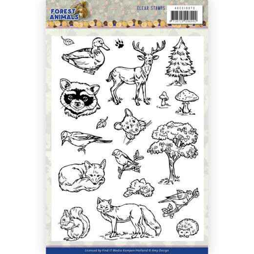 Amy Design, Clear Stamp, Forest Animals - ADCS10073