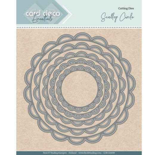 Card Deco, Nesting Dies, Scallop Circle - CDECD0099