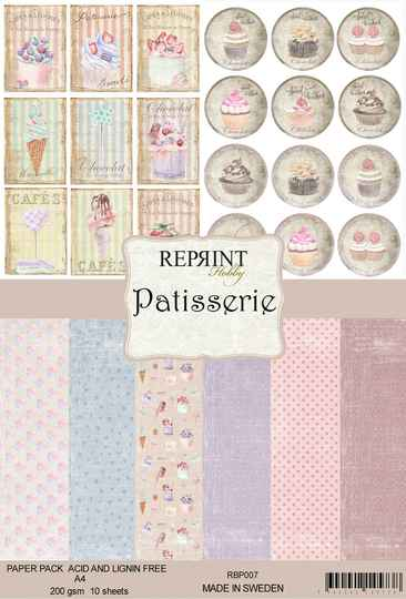 Reprint, Paperpad, Patisserie Collection, A4 formaat - RPB007