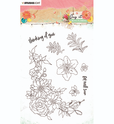 Studiolight, Clear Stamp, Say it with Flowers, nr. 525 - SL-SWF-STAMP525