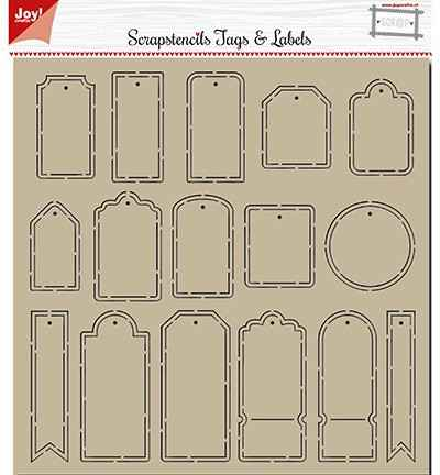 JoyCrafts, Polybesa Scrap Stencil , Tags and Labels - 6002/0881