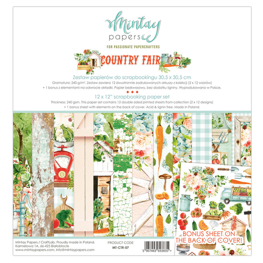 Mintay, Paperpad, Country Fair , 12x12 inch -MT-CTR-07