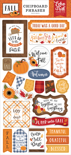 Echo Park, Chipboard Accents, Fall - FAL251022