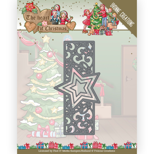 Yvonne Creations, Snijmal, The Heart of Christmas, Twinkling Border - YCD10256