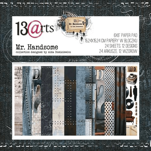 13@rts, Paperpad, Mr. Handsome, 6x6 inch - ARTMH07