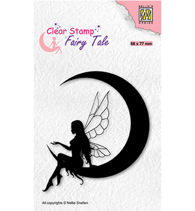 Nellie Snellen, Clear Stamp,  Fairy Tale, Elf on the moon - FTCS036