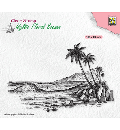 Nellie Snellen, Clear Stamp, Idyllic Floral Scenes, Tropical Coast - IFS039