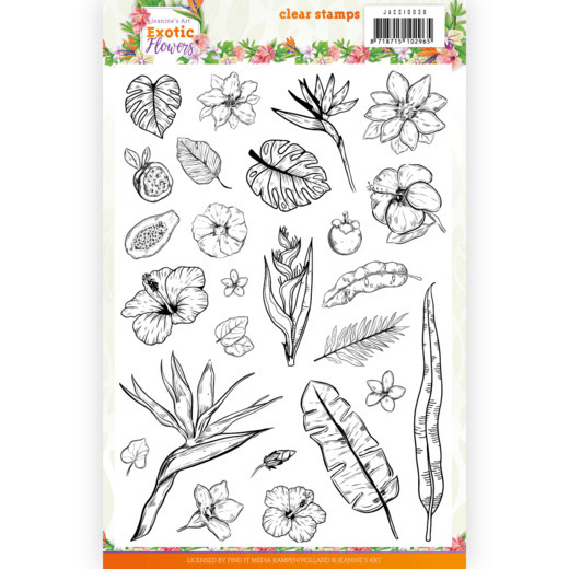 Jeanine's Art, Clear Stamp, Exotic Flowers - JACS10038